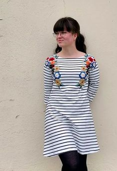 Sara's Coco Dress - Sewing pattern by Tilly and the Buttons Tilly And The Buttons, Beautiful Outfits, How To Make, How To Wear, Tunic Tops, Shirt Dress, Patches, Fabric, Dress Sewing
