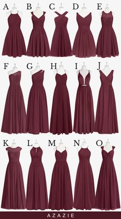 Shop for a large variety of cabernet bridesmaid dresses at Azazie. With bridesmaid dresses from Azazie, you are sure to find a cabernet bridesmaid dress for the perfect look for your wedding. Burgundy Bridesmaid Dresses Long, Red Bridesmaids, Bridesmaid Dresses Plus Size, Wedding Bridesmaid Dresses, Taupe Bridesmaid, Burgundy Dress, Bridesmaids With Different Dresses, Winter Wedding Bridesmaids, Bohemian Bridesmaid