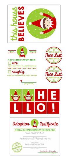 and FREE Elf on the Shelf Printable Kit. See 20 more Free Christmas ...