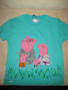 Camiseta amb aplicacions de Peppa Pig