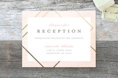 """Watercolor Union"" - Modern Reception Cards in Aqua by Genna Cowsert."