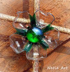 Recycle art - plastic bottle brooch