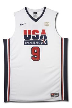 Signed Michael Jordan Jersey - Team USA Dream Team Nike 20th #/109 UDA