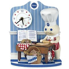 Image detail for -Collectibles » The Pillsbury Doughboy™ Time to Bake Clock