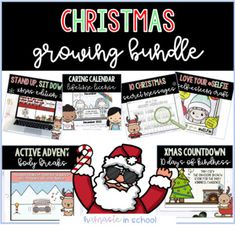 Teacher Resources, Teacher Pay Teachers, Xmas Countdown, Distance Learning Programs, 1d Day, Printable Crafts, Christmas Activities, Grade 1, Kindergarten