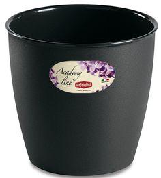 Pot ou Cache Pot Interieur et Exterieur 2.2 L ACADEMY ROND Anthracite au meilleur prix ! - LeKingStore