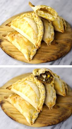 This Easy Empanada Recipe uses flaky pie crust and ground beef to create the perfect dinner. Ready in about 30 minutes, they make a great weeknight meal! Make a double or triple batch and freeze some for a future freezer meal! Beef Recipes, Mexican Food Recipes, Cooking Recipes, Maseca Recipes, Tasty, Yummy Food, Football Food, Food Videos, Love Food