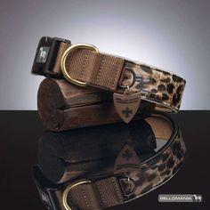 BELLOMANIA Vegan Leather Dog Collar, X-Large, Leopard, Taupe *** Visit the image link more details.