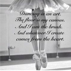 Dancing is an art