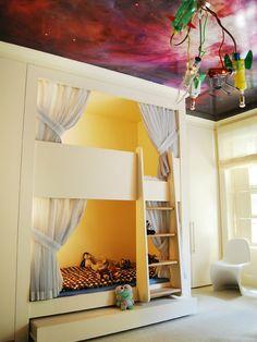 sweet bed room for kids; bunks beds for kids; home decor idea #bedroom #kids  @Denise H. opsahl