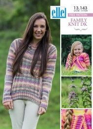 Cardigan and Pullover Family Knit DK cm - 117 cm) - Patterns - Knitting Free Aran Knitting Patterns, Free Knitting, Baby Knitting, Free Pattern, Pullover, Clothes For Women, Children, Sweaters, Yarns