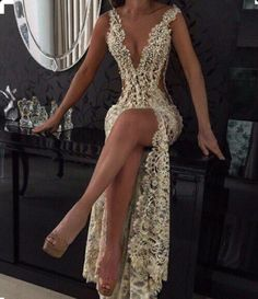 dress lace dress lace prom dress prom gold sequins sexy sparkle luxury