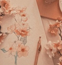 Spring blooms inspired by orange aesthetic, pink aesthetic y peach aestheti Spring Aesthetic, Brown Aesthetic, Orange Aesthetic, Aesthetic Colors, Aesthetic Vintage, Aesthetic Photo, Aesthetic Art, Aesthetic Pictures, Imagenes Color Pastel