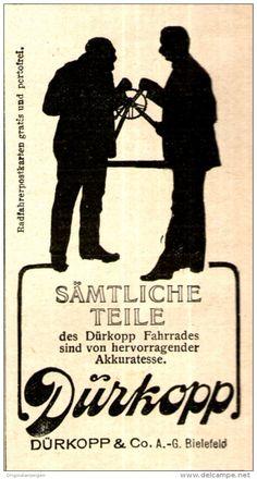 Original-Werbung/ Anzeige 1910 - DÜRKOPP FAHRRAD - TEILE - ca. 45 x 80 mm