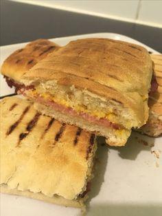 Bacon and burger cheese panini