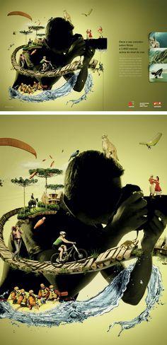 Campanha de turismo para o Governo de SC. Direção de Criação e conceito. Prêmio Abril de Publicidade.