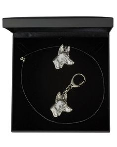 Pharaoh Hound, Dog Keyring and Necklace in Casket, Deluxe Set, Limited Edition, ArtDog Pharaoh Hound, Hound Dog, Casket, Jewelry Sets, Dog Lovers, Statue, Dogs, Silver, Image Link