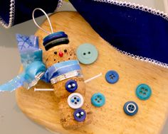 Snowman Champagne Cork Ornament with Vintage by LollipopDay, $12.00