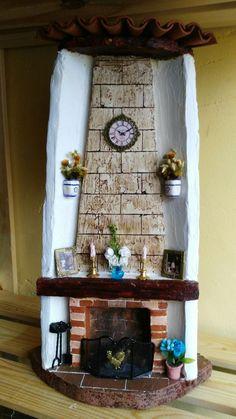 Más tejas Tile Crafts, Decor Crafts, Candle Art, Casette, C Diy Crafts Slime, Tile Crafts, Clay Crafts, Decor Crafts, Diy And Crafts, Arts And Crafts, Clay Houses, Ceramic Houses, Paper Clay