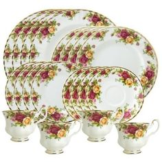 Royal Albert Old Country Roses 20-Piece Dinnerware Set, Service for 4 by Royal Albert, http://www.amazon.com/dp/B0000C8W8Q/ref=cm_sw_r_pi_dp_J.jdrb1D0ZFD5