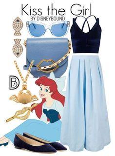 Disney Bound Outfits Casual, Cute Disney Outfits, Disney Themed Outfits, Disneyland Outfits, Disney Dresses, Disney Clothes, Disney Bound Couples, Modern Disney Outfits, Princess Inspired Outfits