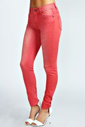 Perth Coloured Stretch Super Skinny Denim Jeans