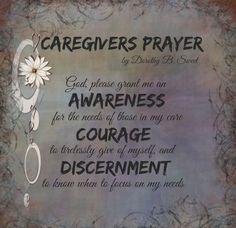Poem A Prayer for the Caregiver Caregiver, Poem and