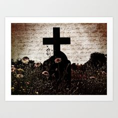 Cross My Heart Art Print by Karen Lindale - $20.80