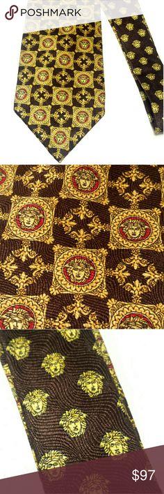 Rare Vintage Gianni Versace Gold Medusa Face Tie A Rare vintage tie. Excellent condition. Versace Accessories Ties