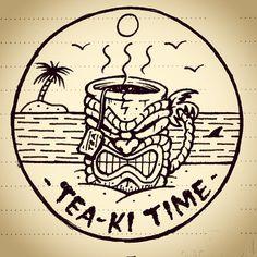 Tea-ki Time - Jamie Browne jamiebrowneart.com