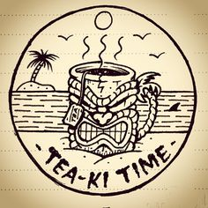 Tea-ki Time - Jamie Browne jamiebrowneart.com