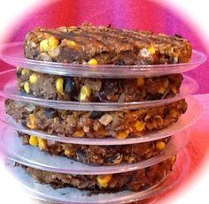 Pink-Vegan: Sweet Potato Quinoa Black Bean Corn Veggie Burgers (DF)