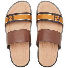 2b67e5bc4cbe Fendi logo strap sandals ( 595) ❤ liked on Polyvore featuring men s  fashion