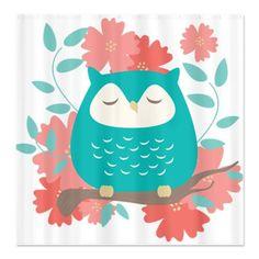 'Sweet Owl and Flowers' by Eine Kleine Design Studio