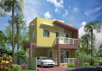 11 awesome home elevation designs in kerala home Home Design Blogs, 3d Home Design, Indian Home Design, Kerala House Design, Simple House Design, Modern House Design, Free House Plans, Modern House Plans, Flat Roof House