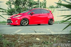 Stanced Red Ford Fiesta by Ericko Pandu