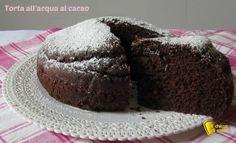 Torta all'acqua al cacao ricetta senza uova il chicco di mais