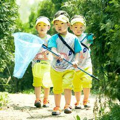 #Daehan #Minguk #Manse For CF skarbarn Triplet Babies, Man Se, Song Triplets, Cute Kids, Superman, Harajuku, Bb, Korea, Songs