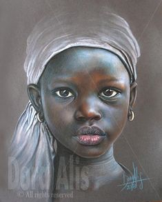 African Girl 100 by Dora-Alis on DeviantArt African Children, African Girl, African American Art, African Beauty, Black Girl Art, Black Women Art, African Art Paintings, Pastel Portraits, Girl Portraits