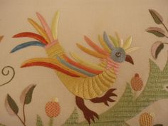 Castelo Branco: Museu Tavares Proença Júnior apresenta exposição sobre o bordado Bed Spreads, Embroidery Patterns, Rooster, Birds, Sewing, Diy, Animals, Flat, Bird Embroidery