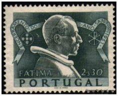 Selos - Afinsa nr 736 - Scott nr 734 - FÁTIMA - ENCERRAMENTO DO ANO SANTO - 1951. (Papa PIO XII.