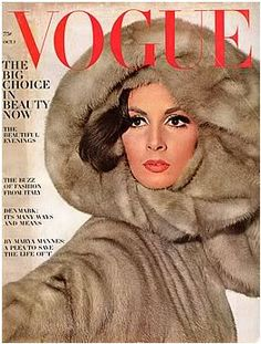"""US Vogue. Wilhelmina Cooper. October 1st,1964. Irving Penn.- - She's wearing what would have been called """"The Jackie-look"""" or Liz Taylor or Sophia Loren- looks !"""