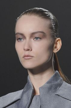 THE BEST MAKEUP LOOKS FROM FALL 2013: Gray Wash - Forget smoky eyes. The slate gray finish on lids this season was sheerer and more mysterious, like a post-storm mist or a moody fog.