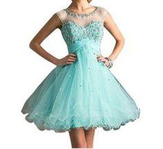 Turquoise short puffy dress | Fashion | Pinterest | Puffy dresses ...