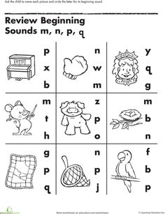 Beginning Letter Sounds | The Classroom | Pinterest | Worksheets ...