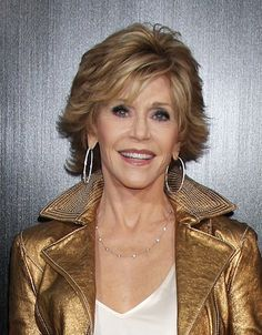 Jane Fonda adds brunette highlights to her grey hair. Photo courtesy WENN