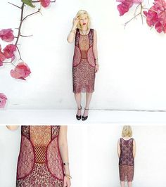 A flapper-inspired midi dress in five shades of lace. #etsyfinds