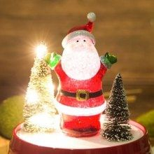 Christmas Santa Claus Style Crystal Ball with Music