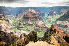 Waimea Canyon Splendor, by Daryl L Hunter Hawaii Landscape, Waimea Canyon, Kauai, Grand Canyon, Wall Art, Beach, Travel, Viajes, The Beach