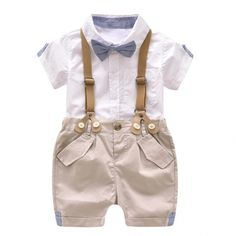 17abd36cff3c Toddler Boys Clothing Set Summer Baby Suit Shorts Shirt 1 2 3 4 Year  Children Kid Clothes Suits Formal Wedding Party Costume